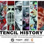 Stencil History X – Foundation Gallery