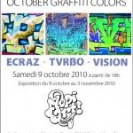 Ecraz, Tvrbo et Vizion exposent au public leurs travaux sur différents supports