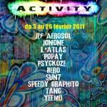 Exposition : Urban activity du 3 au 26 Février 2011