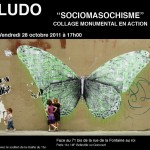 Sociomasochisme, Action de collage de rue par Ludo (Nature Revenge) le 28.10.2011