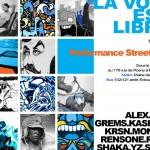 La voix est libre: Performances Streetart le 25/09 [Montreuil]